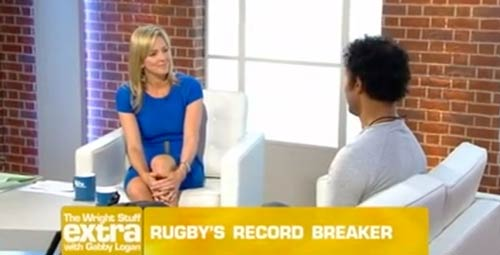 Richard appears on Gabby Logan's The Wright Stuff Xtra after completing his 737 Challenge