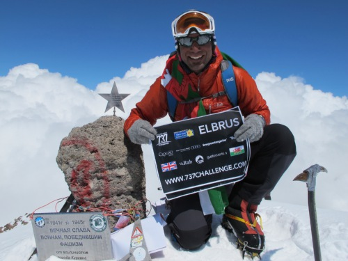 737 Challenge - Leg 9 Elbrus summit interview