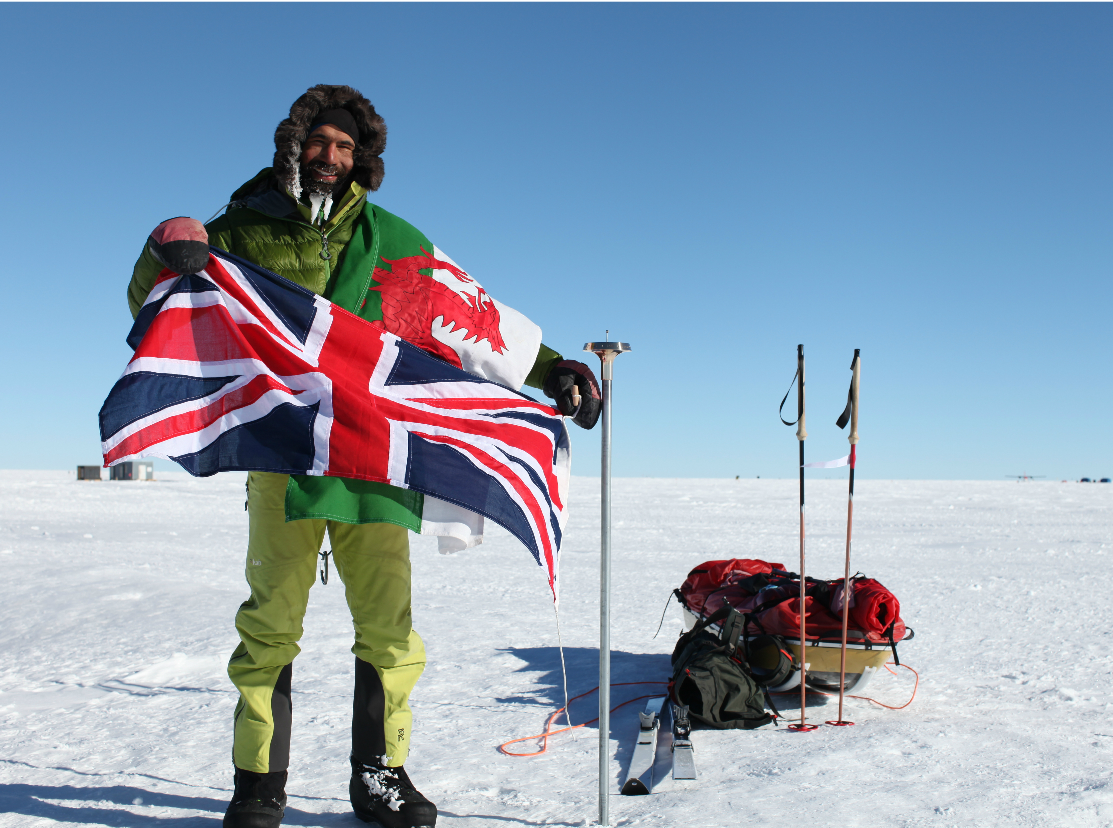 Richard Parks becomes fastest Brit in history to reach South Pole