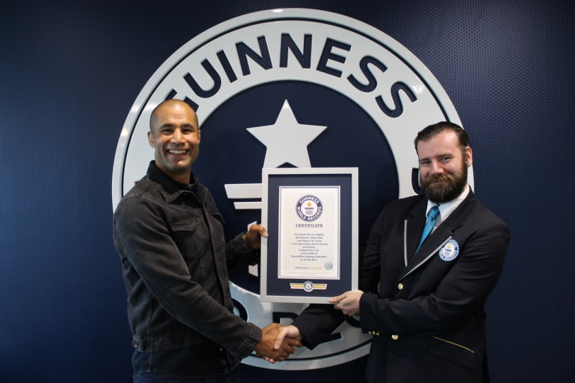 Richard Parks enters Guinness World Records