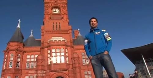 ITV Wales feature on Richard on the day he leaves for his 737 Challenge