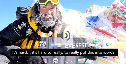 737 Challenge - Leg 7 Mount Everest summit interview