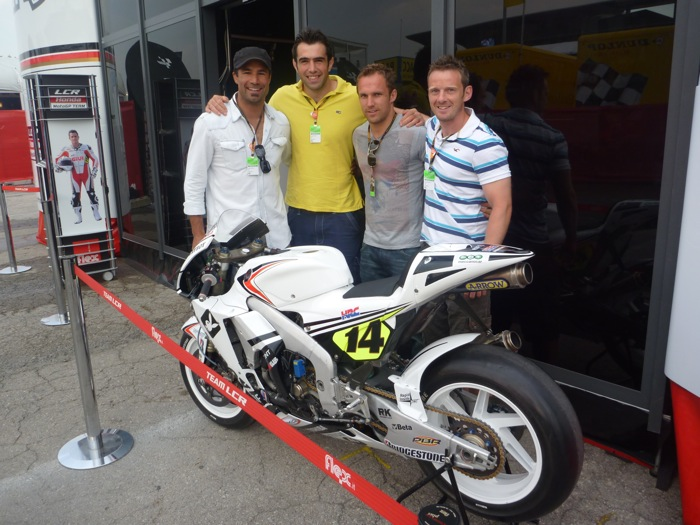 Richard_with_friends_Peter_Sidoli_Mark_McMillan_and_Kevin_Morgan_at_MotoGP_Catalunya.jpg