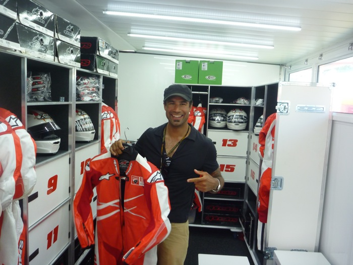 Rich_trying_to_steel_some_Ducati_leathers_-_MotoGP_Catalunya.jpg