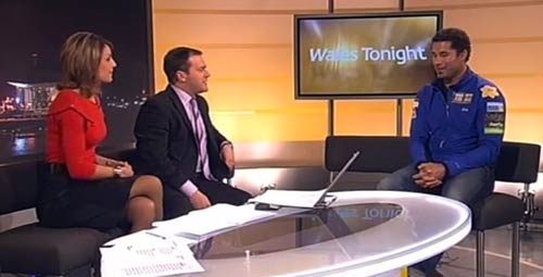 Richard live on Wales tonight before he leaves for 737 Challenge